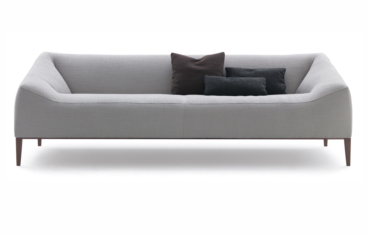 欧舒涵北欧宜家棉麻布灰色布艺沙发