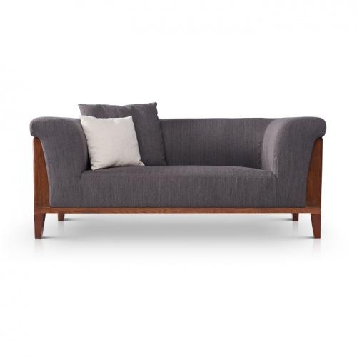 赛莉莎北欧宜家风格麻布灰色布艺沙发