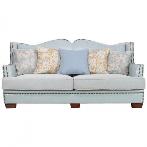 佛罗莲卡美式风格真皮三人沙发