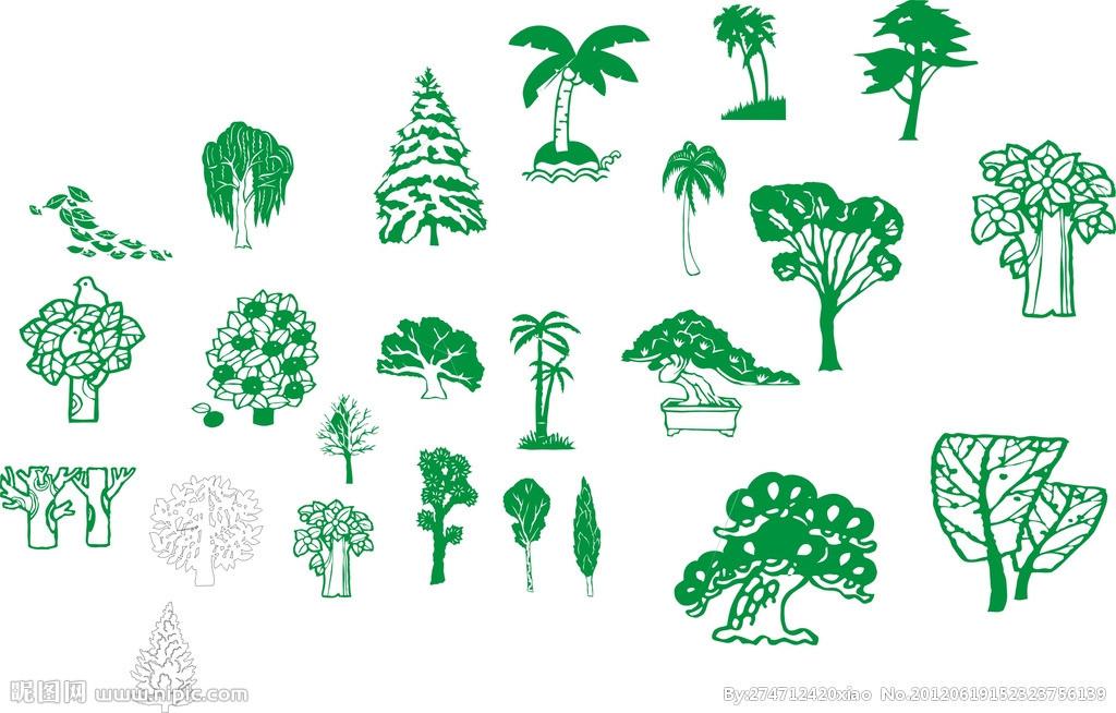 柏树矢量图片-最新柏树矢量图片大全