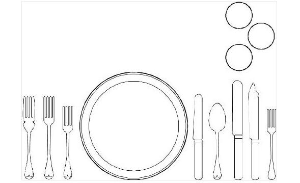 餐具矢量图