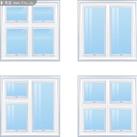 窗子矢量图玻璃效果图