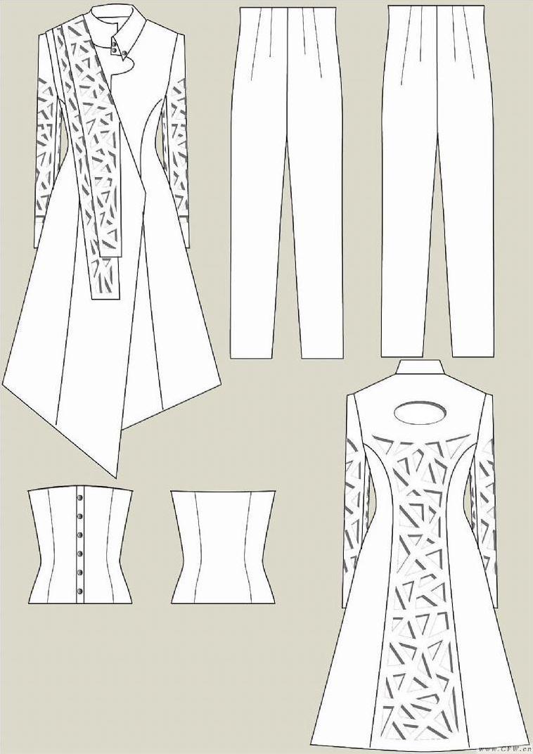 衣服款式图