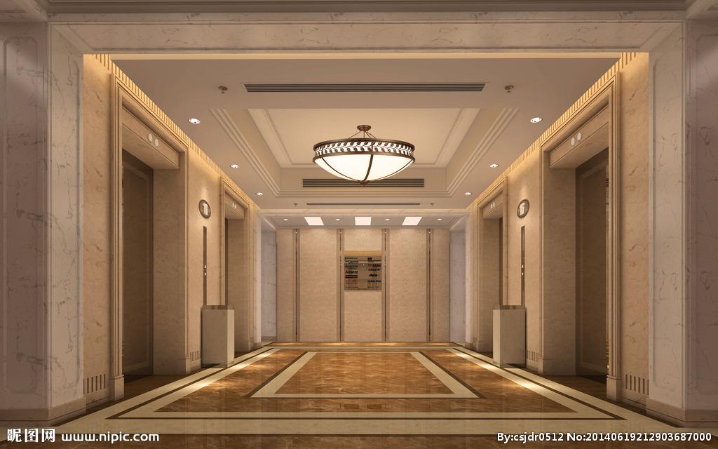 电梯厅效果图设计图