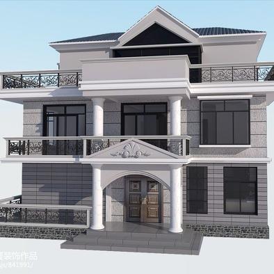 欧式农村房子外观设计图