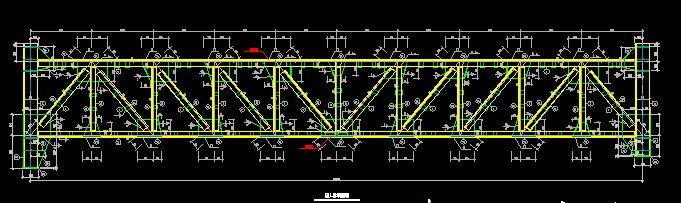 图桁架结构施工图桁架结构节点图钢结构桁架图桁架
