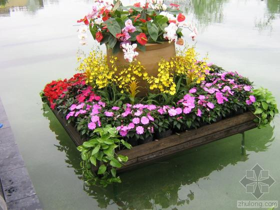 长方形花坛效果图