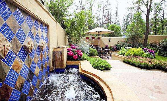 装修图片 花园图片-最新花园图片大全   别墅绿化一楼花园装修效果图