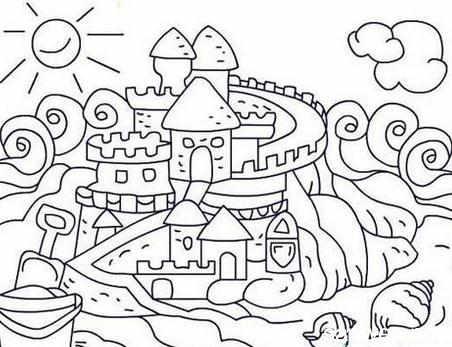 圣诞城堡简笔画图片