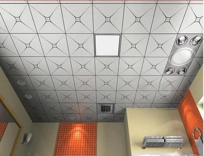 银色铝扣板吊顶效果图