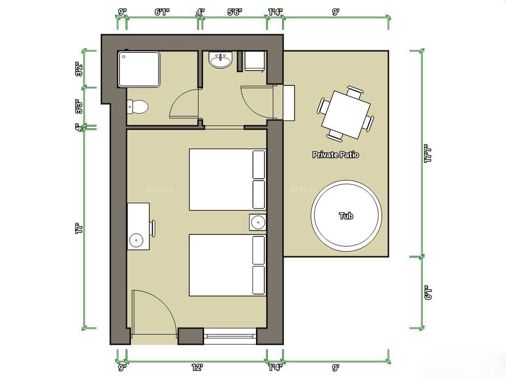 50平方房间设计平面图欣赏
