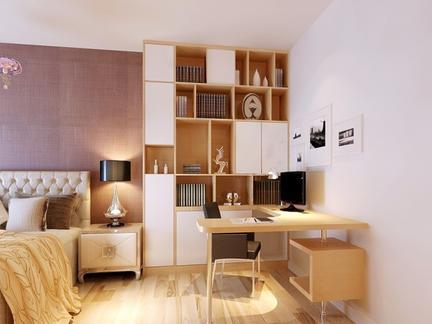 卧室书桌书架装修效果图图片
