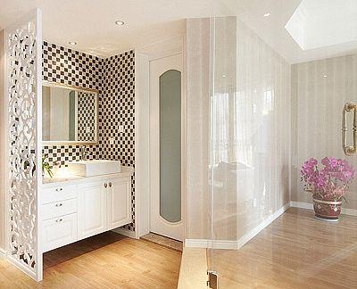屏风图片-最新屏风图片大全   客厅走廊屏风效果图欣赏 屏风隔断洗手