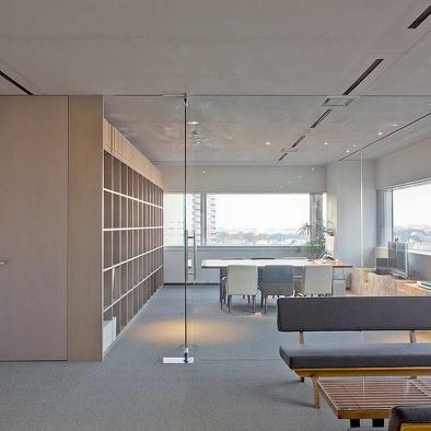 办公室玻璃隔墙装修效果图大全欣赏