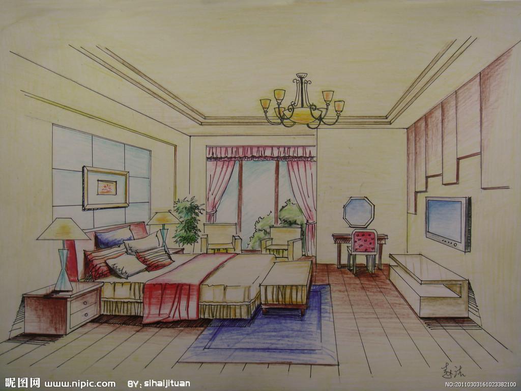 室内手绘图设计图