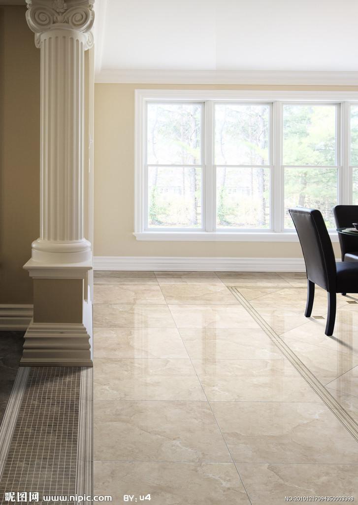 新古典客厅瓷砖铺贴效果图分层psd源文件