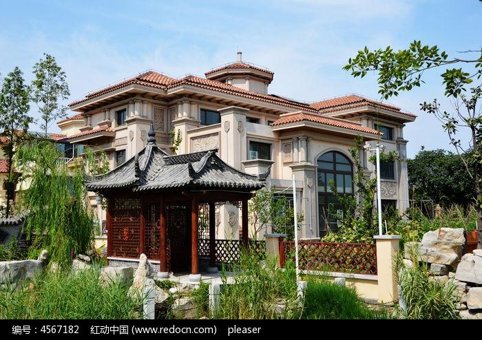 高清别墅风景大图jpg格式 欧式独栋别墅图片,高清大图 预制化别墅商品