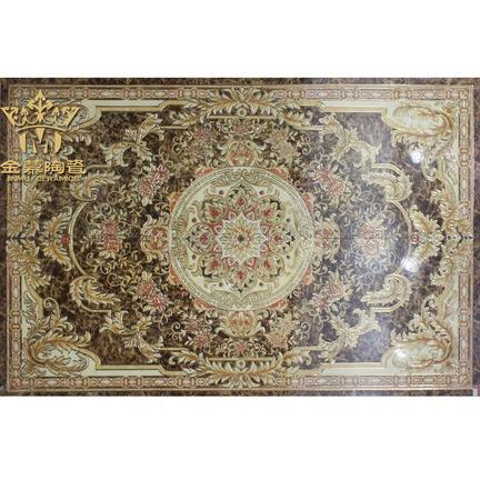金慕镀金抛晶砖地面拼图抛金地毯拼花瓷砖1200x1800