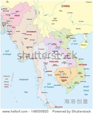 东南亚的地图