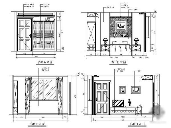 客厅房间电路设计图