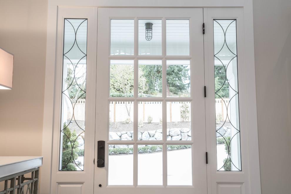 欧式古典loft别墅门窗设计效果图