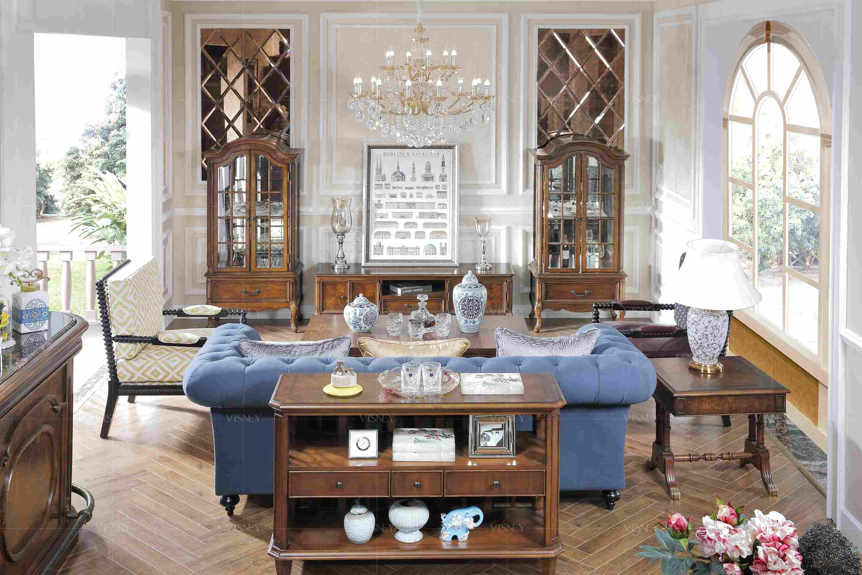 欧式复古风格大户型公寓家居客厅装修效果图