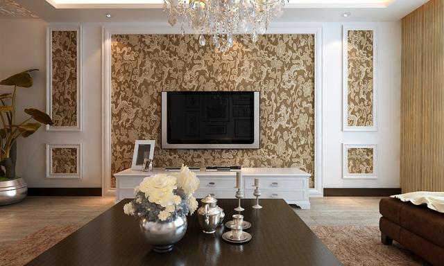 凤扬院现代中式别墅客厅装修效果图2014图片 现代简约的180平方米