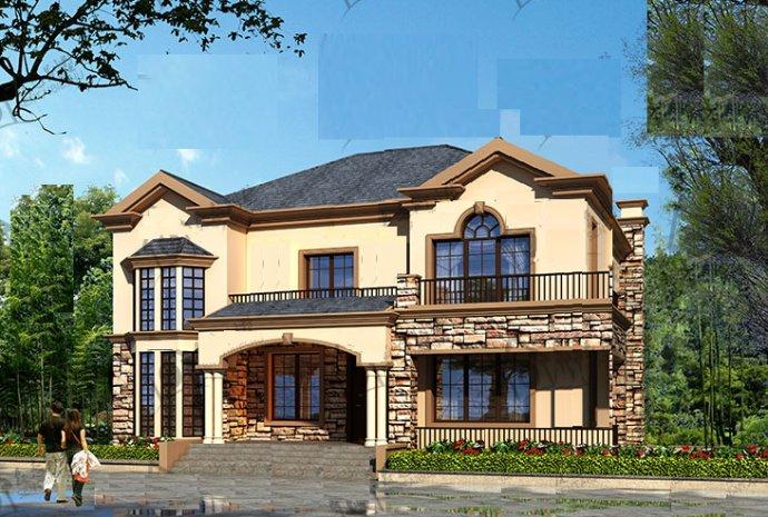 三间二层楼房设计图