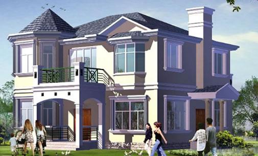 20万农村别墅设计图纸:可建的二层独栋别墅