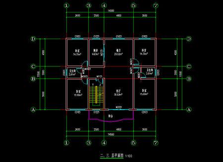 二楼平面设计图 二楼平面设计图 一楼设计图:二楼设计图 农村二楼平房