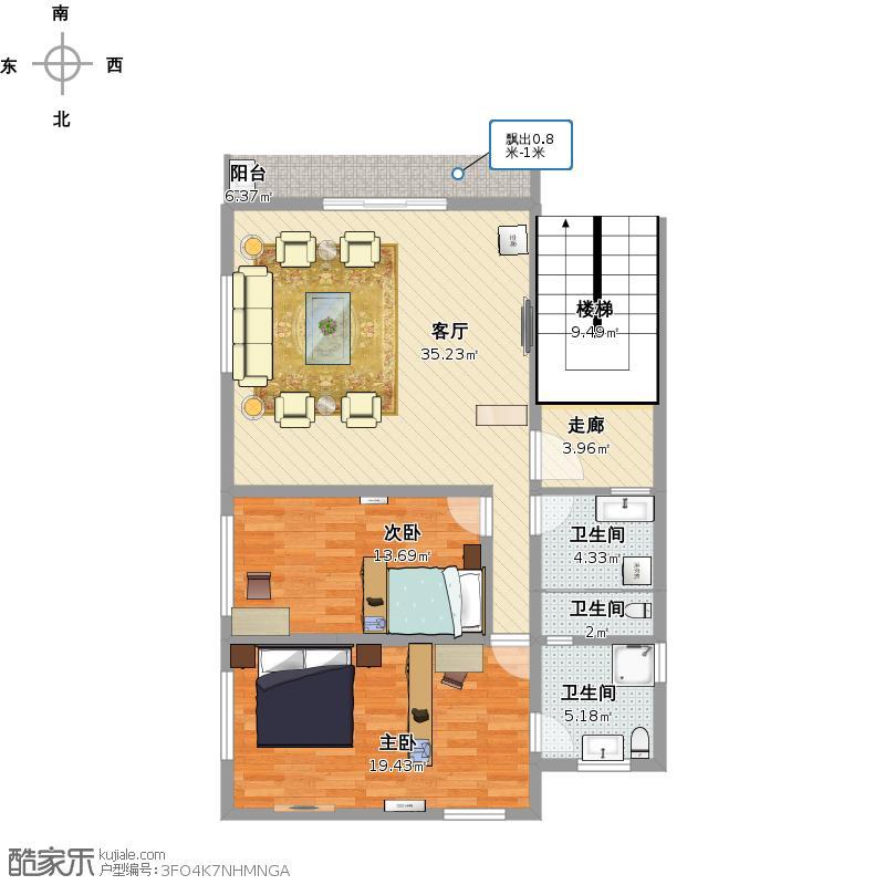 幸福之家二楼设计图 沧南小区二楼设计图 复式楼二楼设计图 二楼平面