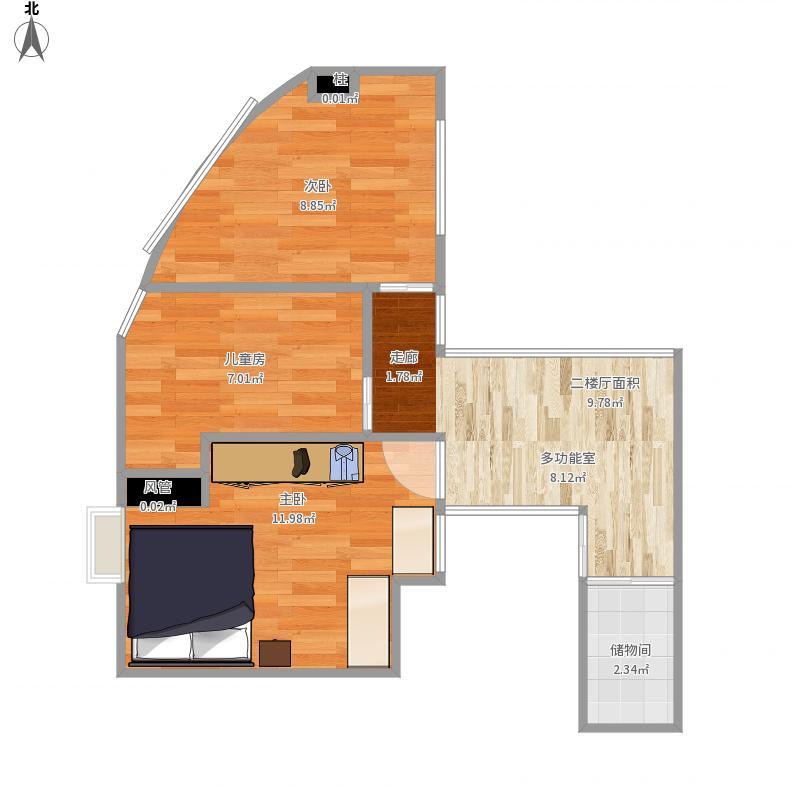 2樓設計圖福建廈門圖片 房子2樓內部設計圖展示 平林·二樓三樓設計圖