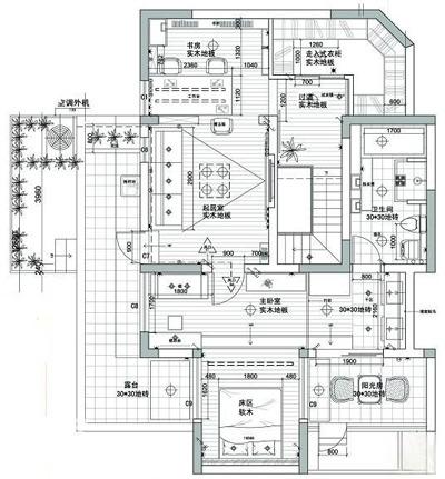 二楼设计图 幸福之家二楼设计图 沧南小区二楼设计图 复式楼二楼设计