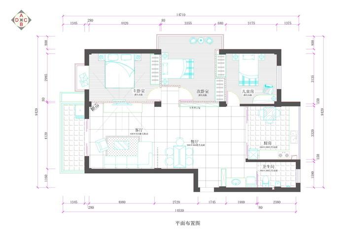 130平方建房设计图图片