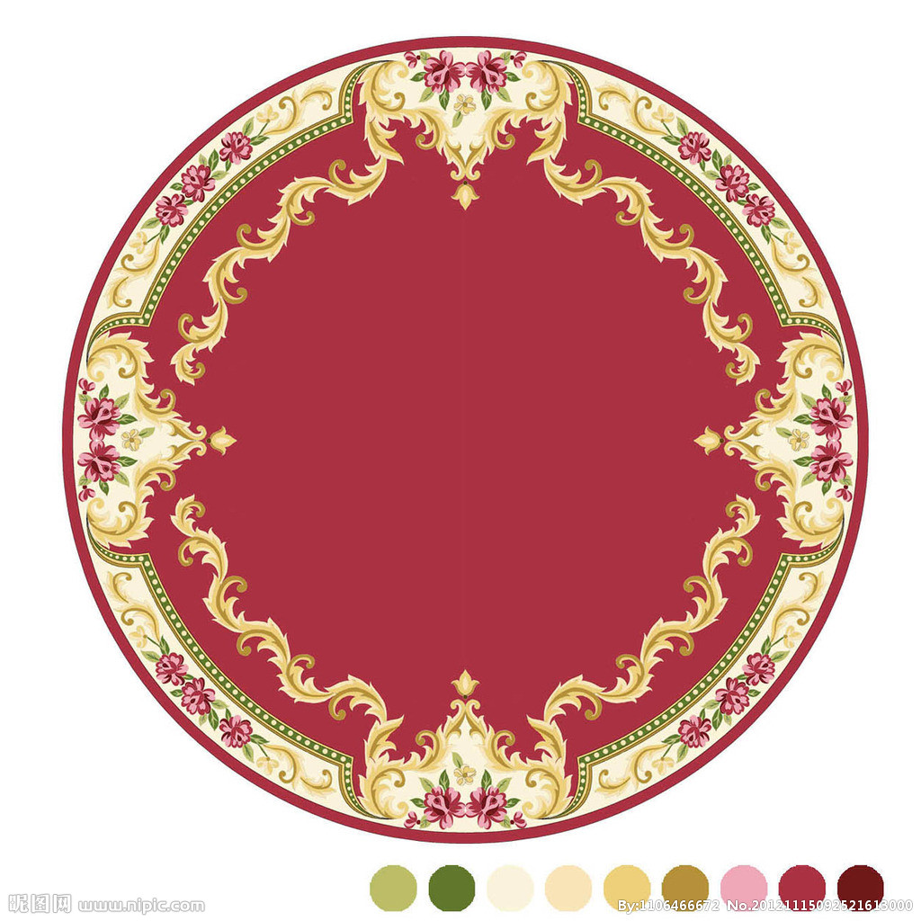 圆形图片图案[设计图,jpg]地毯顶装修设计餐厅风格图片
