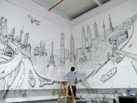 欧式墙绘材质贴图