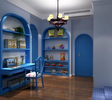 地中海风格梦幻海之蓝客厅