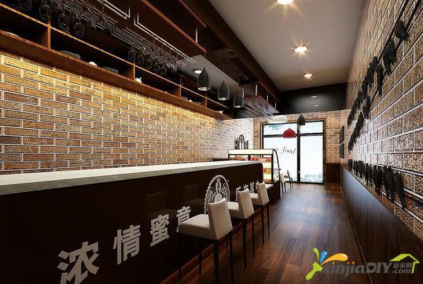 编号:894 - 咖啡厅装修效果图 - 简约风格咖啡厅吊顶装修效果图简约图片
