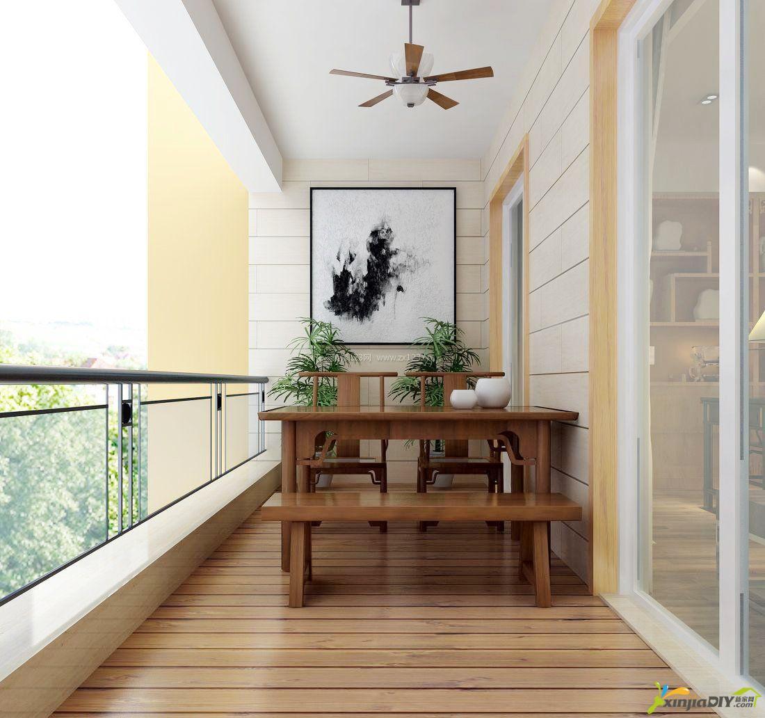 编号:947 - 茶室装修效果图 - 4_新中式风格阳台茶室装修效果图.jpg