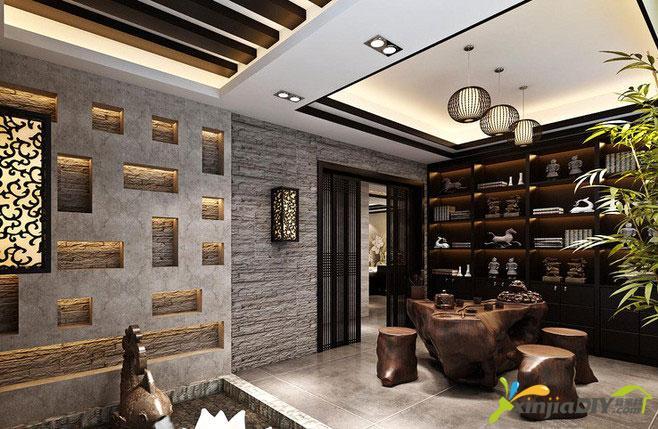 编号:948 - 禅式茶室装修效果图 - 9_品味古风禅韵 12个中式茶室设计