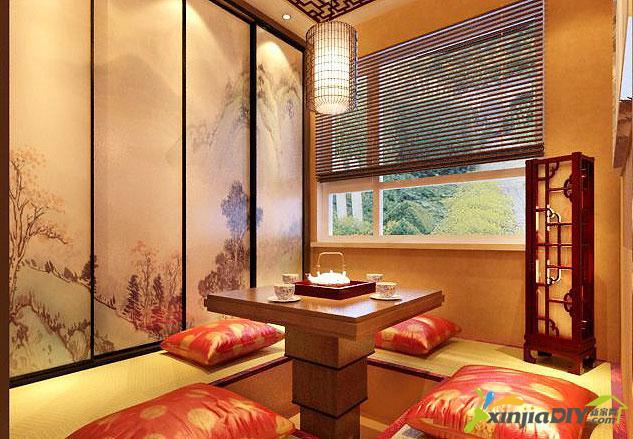 编号:948 - 禅式茶室装修效果图 - 17_茶馆中式装修,可将茶室墙面打空