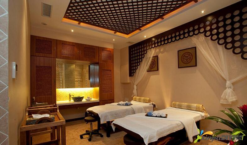 編號:977 - 60平米小美容院裝修圖 - 美容院室內吊頂裝飾設計圖片