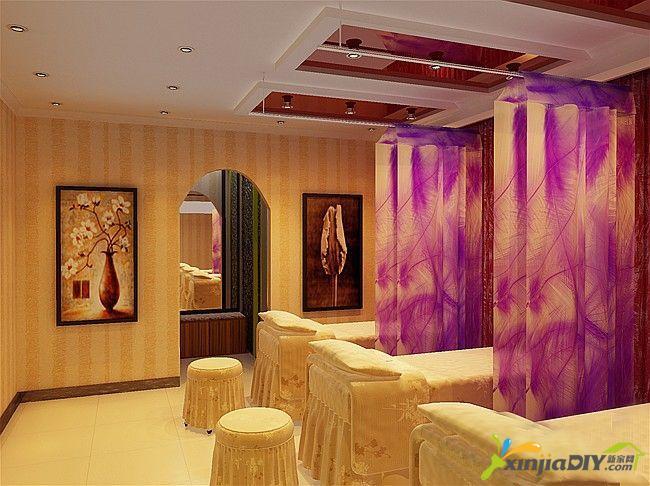編號:977 - 60平米小美容院裝修圖 - 西安美容院裝修要點 美容院設計